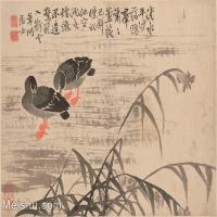 【印刷级】GH6061949古画边寿民-芦雁图十开(4)册页图片-68M-4890X3693