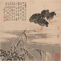 【印刷级】GH6061953古画边寿民-芦雁图十开(8)册页图片-69M-4866X3717