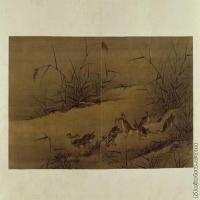 【印刷级】GH6064090古画古琴曲《秋鸿》图谱册2_01争芦图册页图片-43M-5304X2880