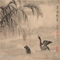 【印刷级】GH6061945古画边寿民-芦雁图十开(10)册页图片-68M-4872X3690