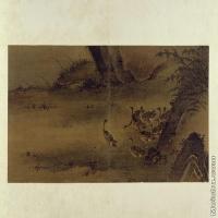 【印刷级】GH6064092古画古琴曲《秋鸿》图谱册2_05引群出塞图册页图片-69M-6600X3702