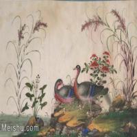 【欣赏级】GH6062888古画古代花鸟小品图册水鸭子册页图片-4M-1617X1011