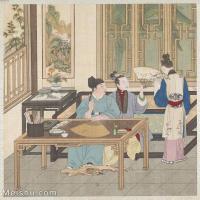 【印刷级】GH6151009古画册页人物[清]佚名-人物图图片-6M-1465X1600_57593837