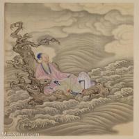 【印刷级】GH6040190古画册页雍正行乐图十六开人物图片-51M-3852X4687