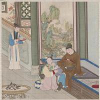 【印刷级】GH6151007古画册页人物[清]佚名-人物图图片-6M-1483X1600_57591996
