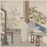 【印刷级】GH6151008古画册页人物[清]佚名-人物图图片-6M-1463X1600_57592932