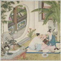 【印刷级】GH6151011古画册页人物[清]佚名-人物图图片-6M-1447X1600_57595771