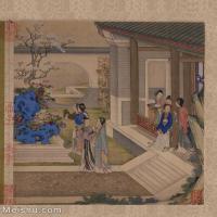 【印刷级】GH6061149古画陈枚--女人-清朝-庭院观花册页图片-58M-4089X4961_56984825