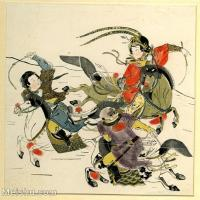【欣赏级】GH6060629古画中国版画大英博物馆藏4册页图片-9M-1775X1914