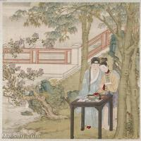 【印刷级】GH6151010古画册页人物[清]佚名-人物图图片-6M-1442X1600_57594757