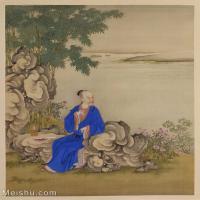【印刷级】GH6040203古画册页雍正行乐图十六开人物图片-52M-3960X4639