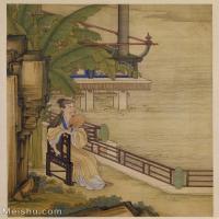 【印刷级】GH6040201古画册页雍正行乐图十六开人物图片-52M-3888X4723