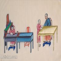 【欣赏级】GH6062973古画清代人物场景工笔纪实图册贵族私塾册页图片-17M-3123X1961