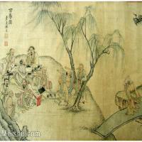 【欣赏级】GH6063525古画百寿图人物册页(11)册页图片-12M-2500X1775