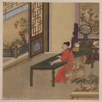 【印刷级】GH6040196古画册页雍正行乐图十六开人物图片-50M-3851X4591