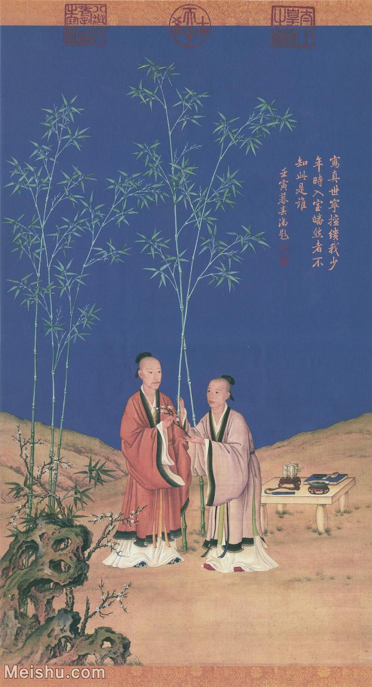 【超顶级】GH6086233古画人物清-郎世宁-平安春信图242M立轴图片-242M-6786X12500_553741