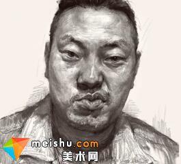 素描头像栾树男青年-美术高考视频教学