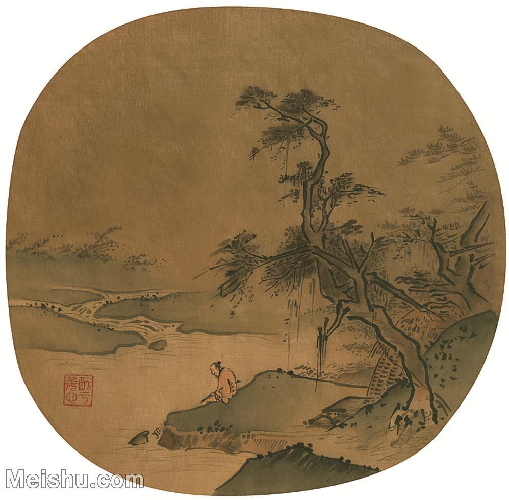 【印刷级】GH6081357古画山水风景-宋代山水小品树林木河流-小品图片-51M-3780X3708_2068042.