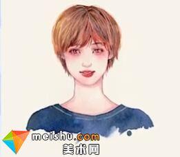 「水彩人物绘」发型 短发-美术高考视频教学