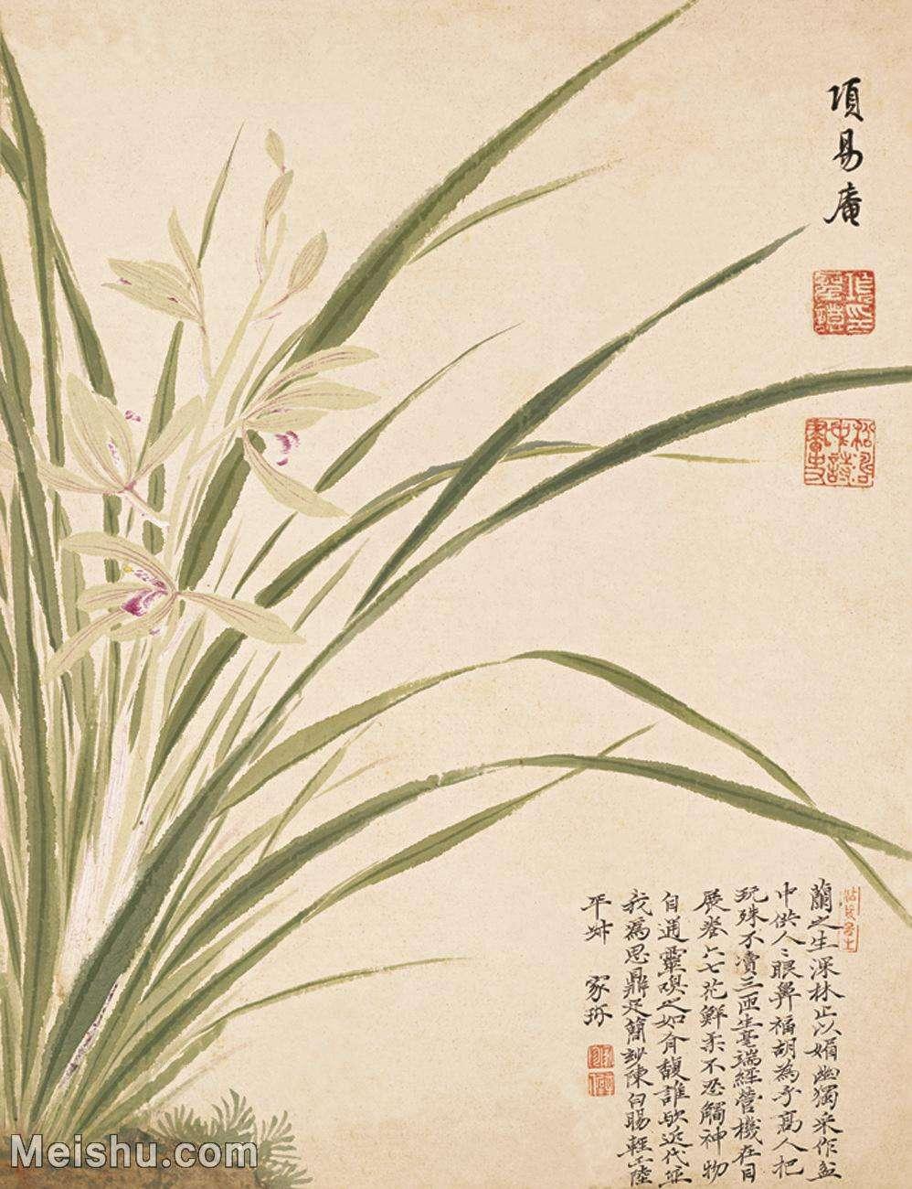 【印刷级】GH6061787古画项圣谟花卉十开(7)-花卉-兰花册页图片-43M-3279X4272_13227168.