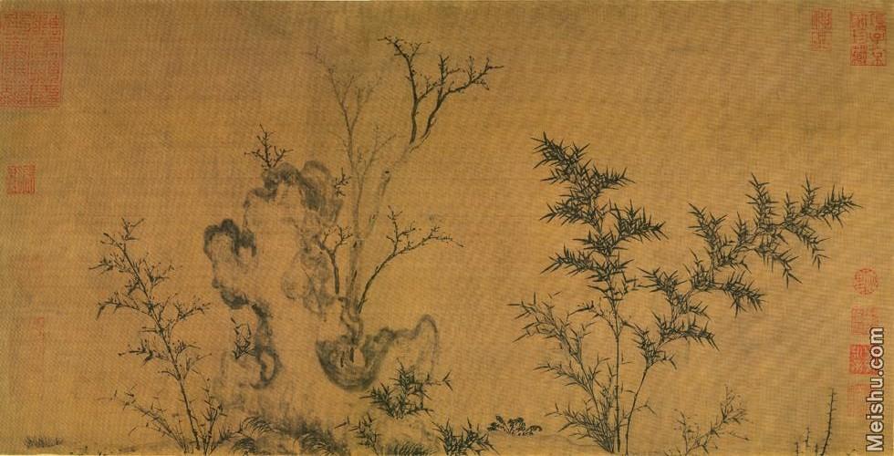 【打印级】GH7280533古画植物馬麟:暮雪寒禽圖镜片图片-52M-6000X3062.jpg