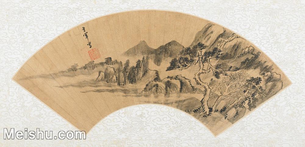 【欣赏级】GH6070397古画山水风景Zhong Chang扇面图片-14M-3199X1546.jpg