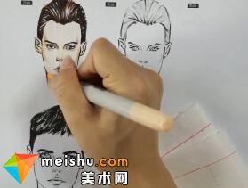 超级速写描摹本—服装设计手绘篇(男性头部)