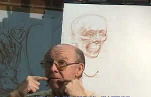 头部解剖素描-人体素描示范01(Head1)