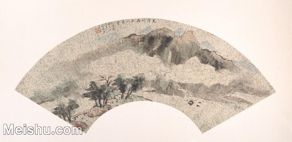 【欣赏级】GH6070415古画山水风景明代周延儒玉绳扇面图片-22M-4000X1948.jpg