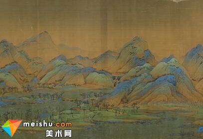 陈丹青主讲宋朝画家王希孟《千里江山图》-局部