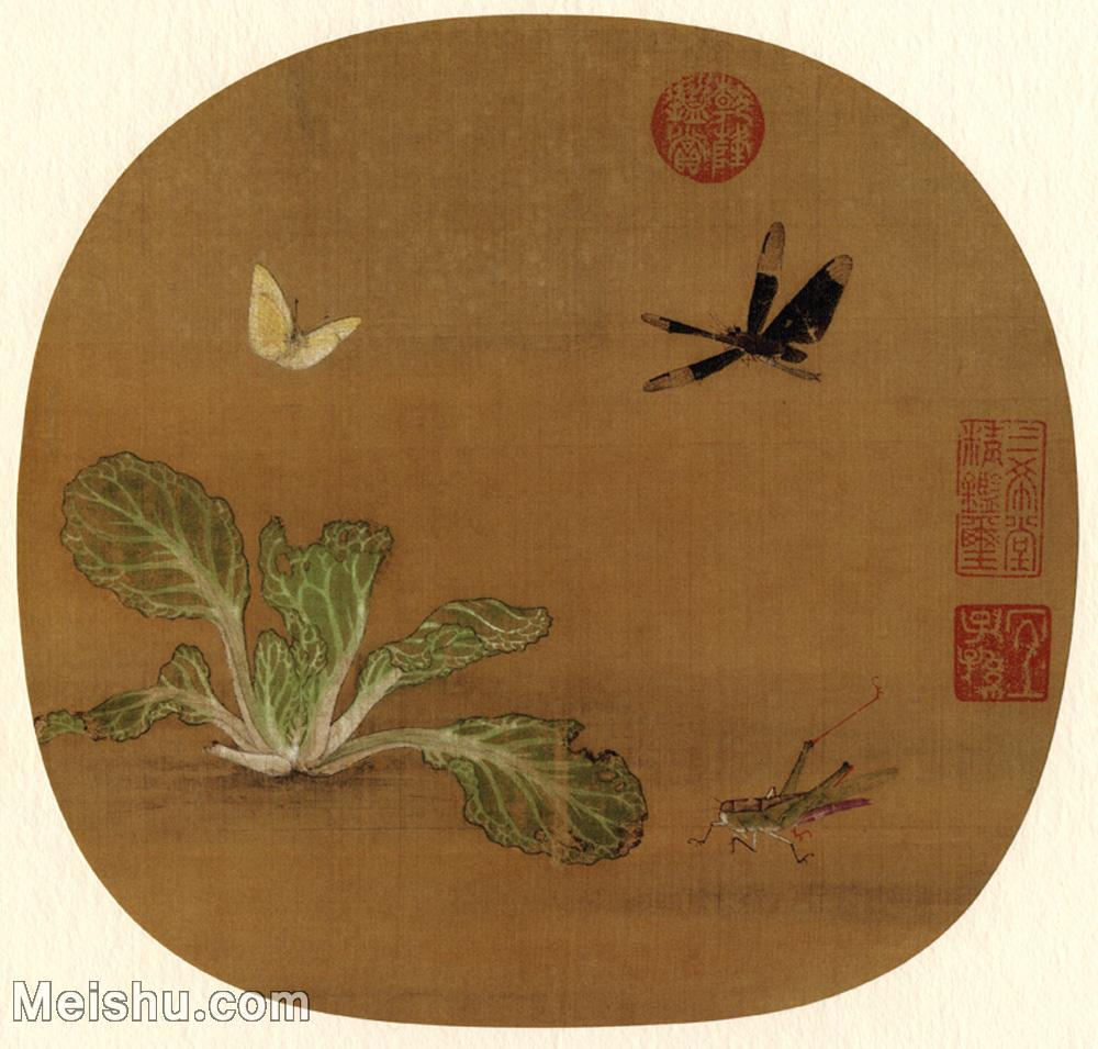【打印级】GH6080817古画树木植物許迪-野蔬草蟲圖小品图片-28M-3256X3108.jpg