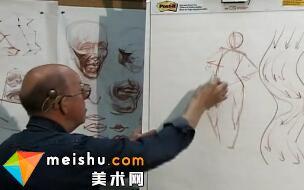 人体姿态素描-人体素描示范15(Gesture)