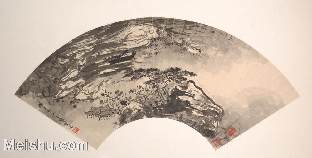 【欣赏级】GH6070382古画山水风景扇面图片-5M-2000X1016.jpg
