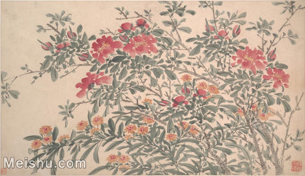 【印刷级】GH6060223古画明陈春白阳集花册册页图片-54M-5750X3317.jpg