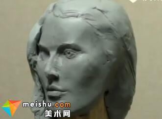 「雕塑」人物头像结构与五官塑造
