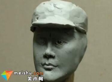「雕塑」人物头像女孩戴帽子-人物头部结构空间认识与五官立体意识