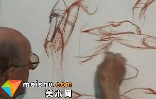 上臂解剖素描-人体素描示范03(Upper Arm)