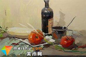 水粉静物红酒-美术高考视频教学