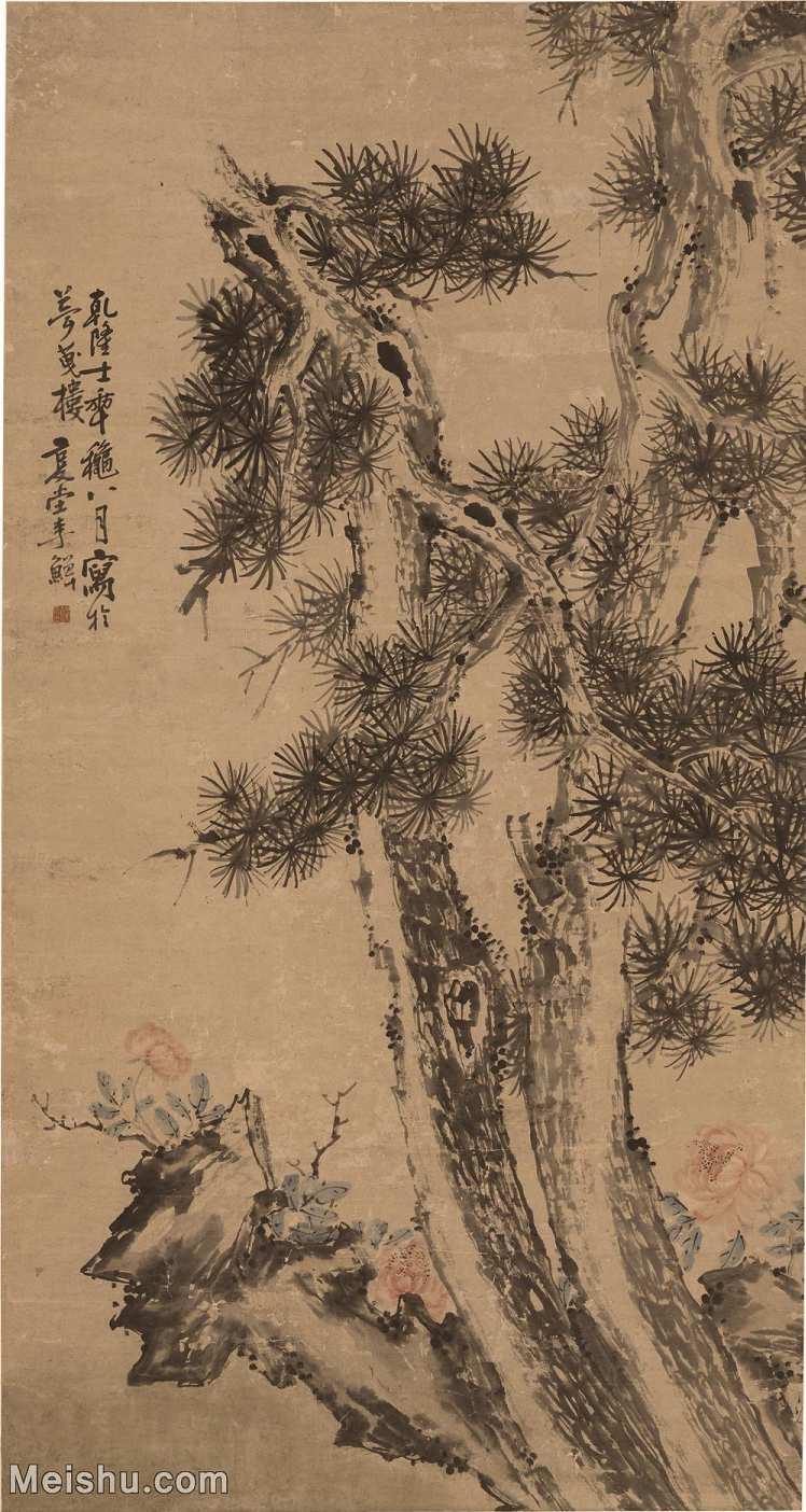 【超顶级】GH6040067古画立轴-清 李鱓-松石牡丹图轴图片树木植物-822M-10725X20104_548372