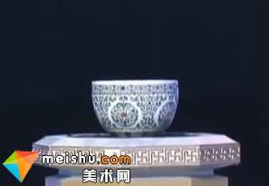 清乾隆官窑斗彩卷缸-收藏秀 2011