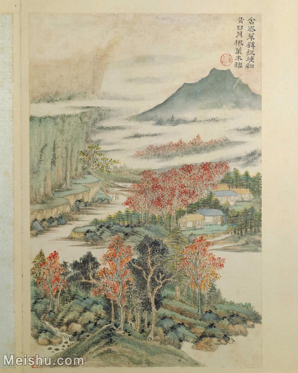 【印刷级】GH6061716古画王时敏杜甫诗意图册(4)-山川-房屋-树林册页图片-49M-3723X4652.jpg