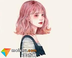 「水彩人物绘」发型(共五集)-美术高考视频教学