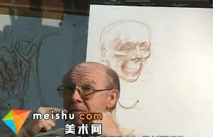 头部解剖素描-人体素描示范01((Head3)
