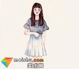 「水彩人物绘」人体站姿-美术高考视频教学