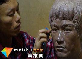 人物肖像雕塑制作过程及作品欣赏-麦子雕塑工作室
