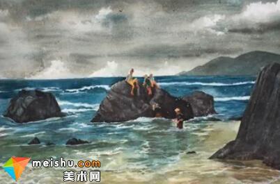 「水彩风景」海涛(共三节)-手绘帮