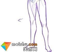 「轻微课」人物腿部绘画示范讲解-人体结构与动态