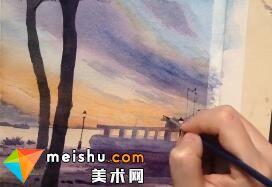 「水彩风景」巴特里公园-手绘帮