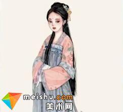 「水彩人物绘」汉服齐胸襦裙-美术高考视频教学