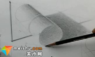 「素描」手绘教学-圆形网底几何曲面